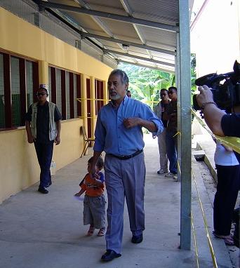 Xanana Gusmão im Wahllokal