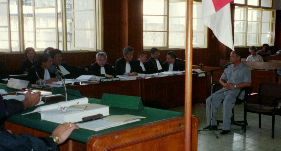 Zeugenvernehmung beim ad-hoc-Tribunal in Jakarta