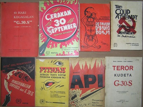 propaganda leaflets blaming the Indonesian Communist Party for the 30 September (1965)