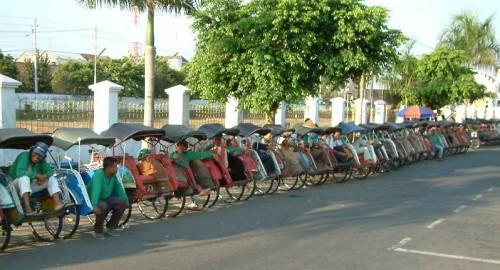 Becaks in Yogyakarta
