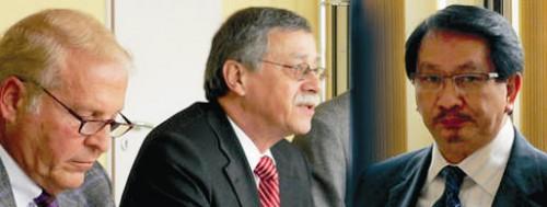Kurt Beckers, Geschäftsführer der LASA, Winfried Alber, Staatssekretär im MASGF, und der indonesische Minister Taufiq Effendi