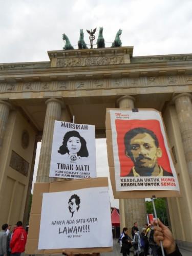1. Mai Aktion in Berlin 2014