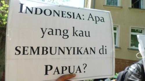 Demo Pressefreiheit Papua