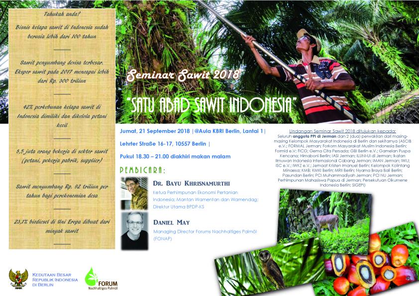 KBRI BERLIN_Seminar Sawit 2018