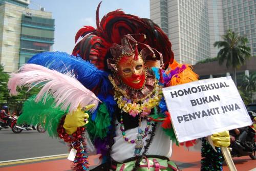 """LGBT Demonstration in Jakarta """"Homosexualität ist keine mentale Störung"""""""