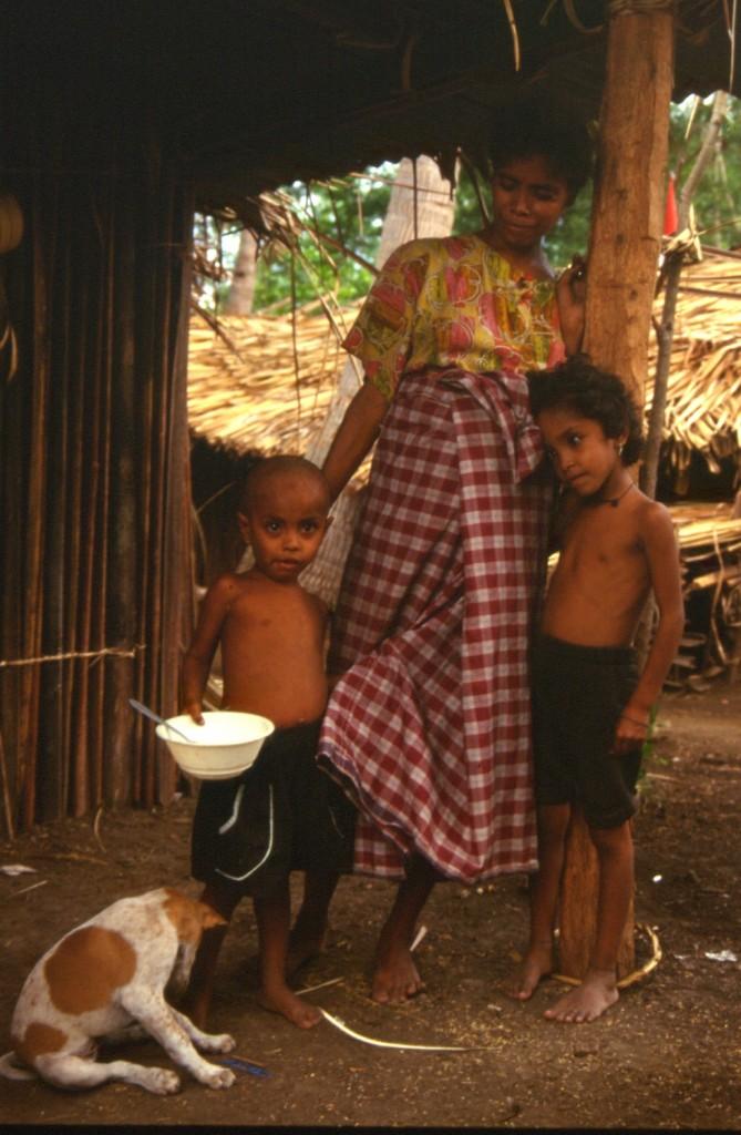 Mother with Children at Kletek Camp