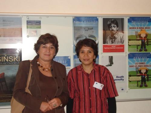 Suciwati and Ana Gomes, MEP