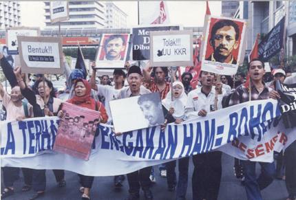 Demonstration für Munir in Jakarta
