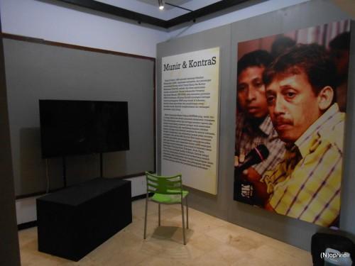 Ein Ecke im Menschenrechtsmuseum Omah Munir in der Stadt Batu, Ostjava. Photo: Omah Munir