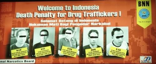 Willkommensgruß auf dem Flughafen Jakarta